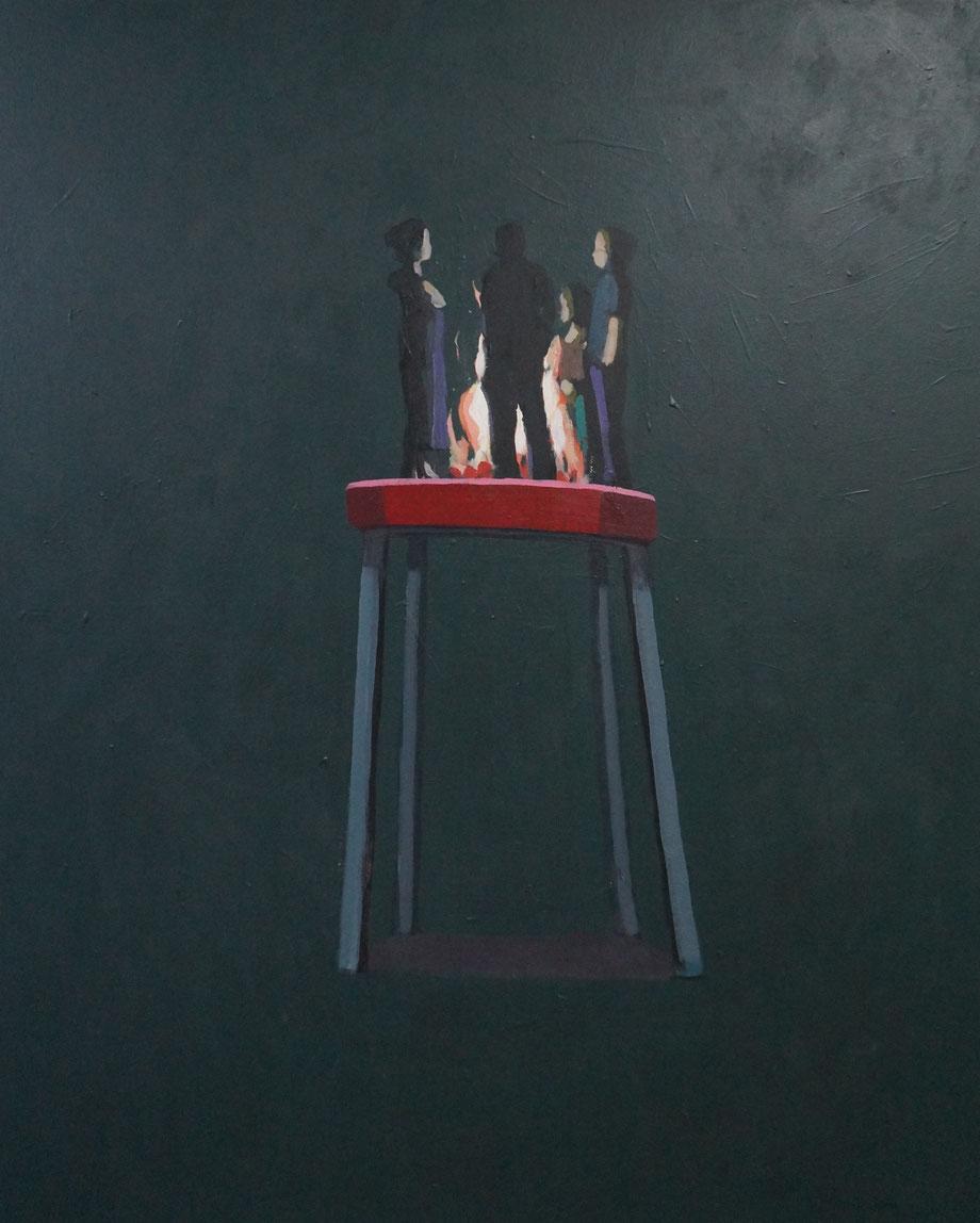 bonfire - Acryl auf Leinwand, 110x90cm, 2015 | verkauft
