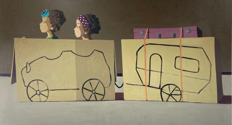 travelers - Acryl auf Leinwand, 100x180cm, 2020 | verkauft