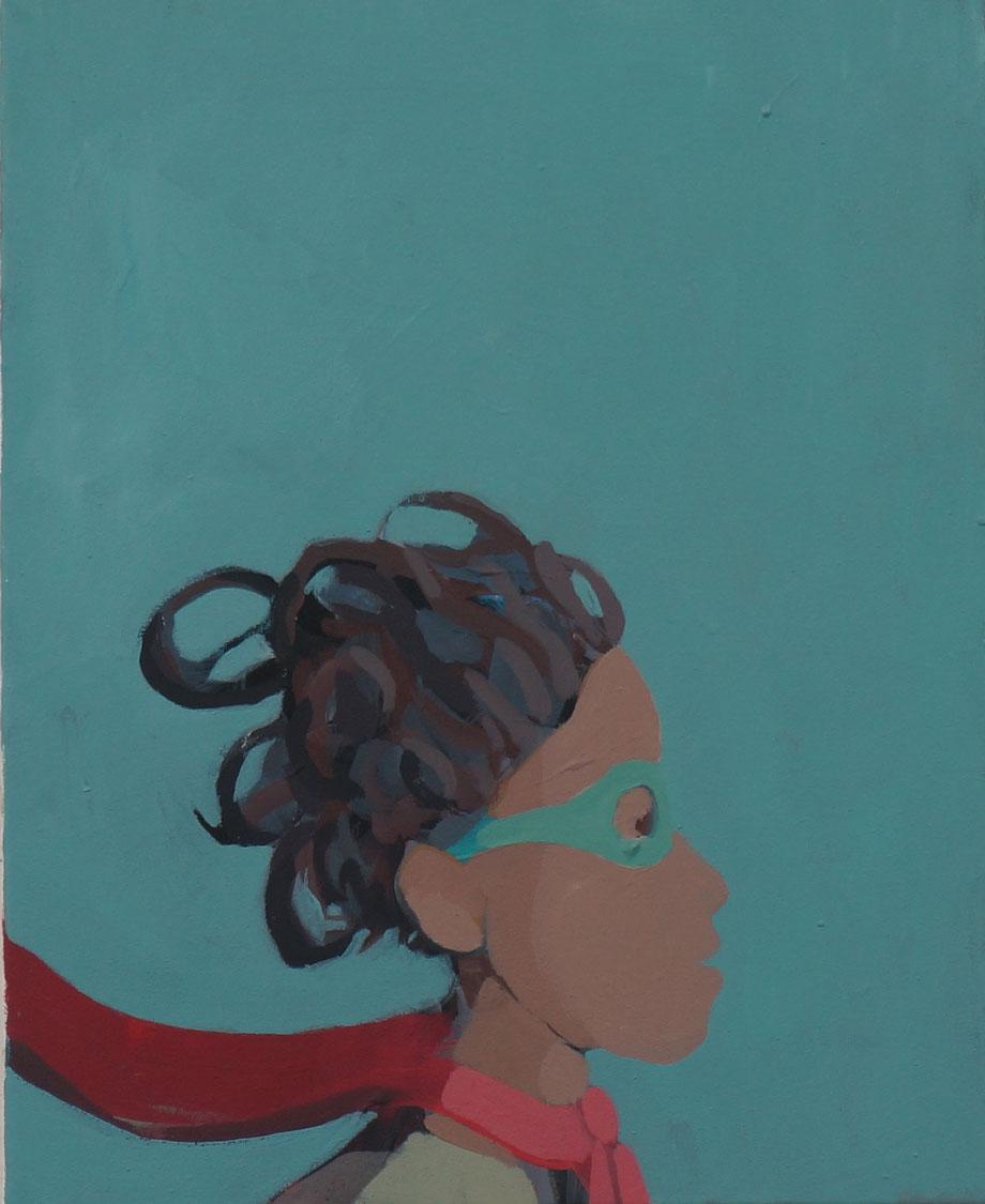 superhero - Acryl auf Leinwand, 50x40cm, 2014 | verkauft
