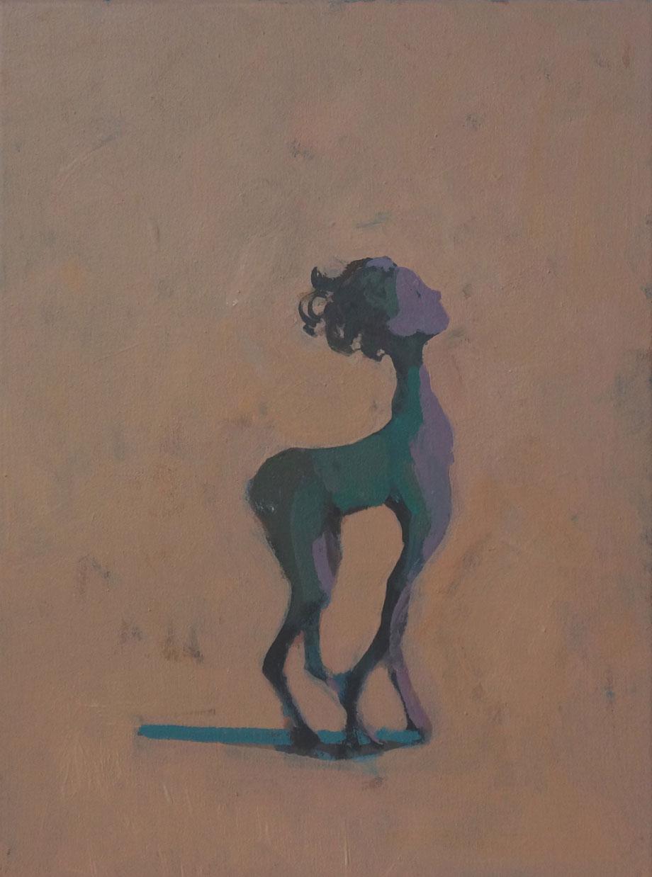 olivia's transformation, Acryl auf Leinwand, 40x30cm, 2014