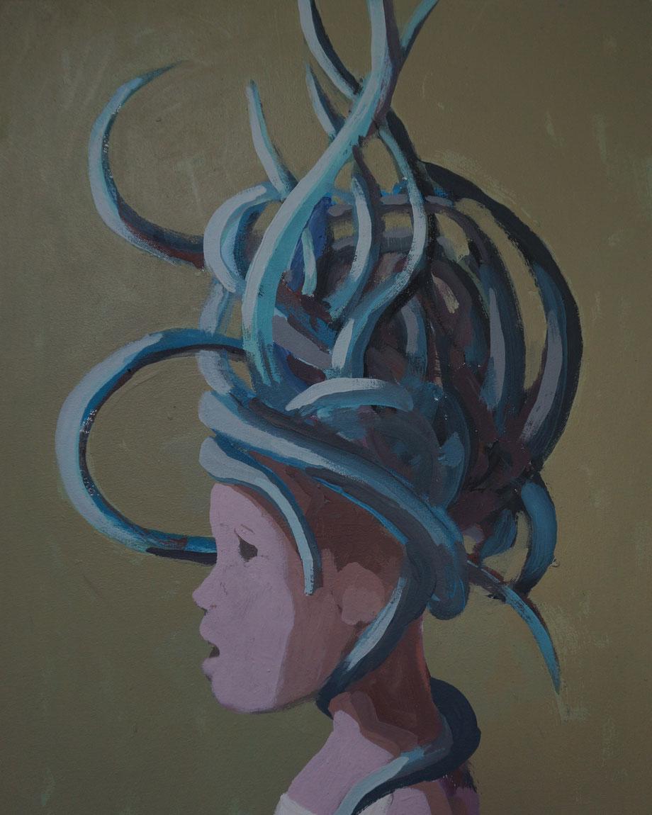 medusa - Acryl auf Leinwand, 50x40cm, 2014