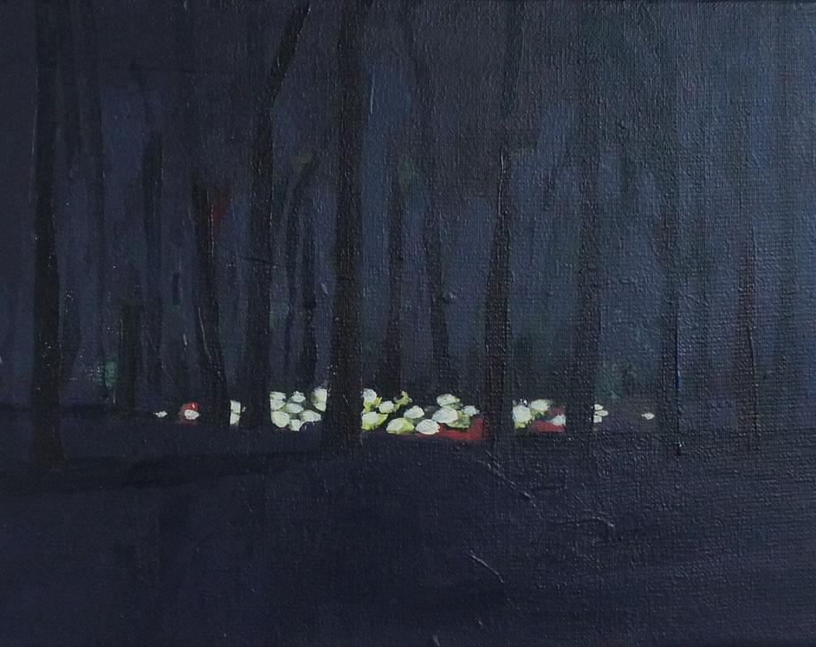 the forest - Acryl auf Leinwand, 24x30cm, 2016
