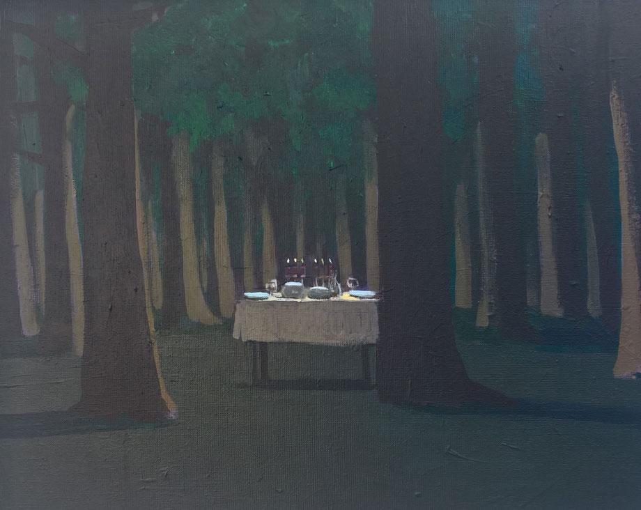 the table - Acryl auf Leinwand, 40x50cm, 2017
