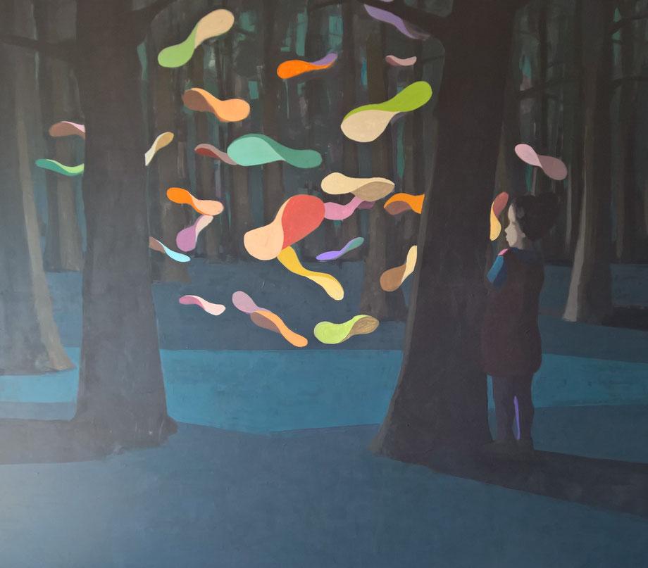 onlooker - Acryl auf Leinwand, 190x220cm, 2016