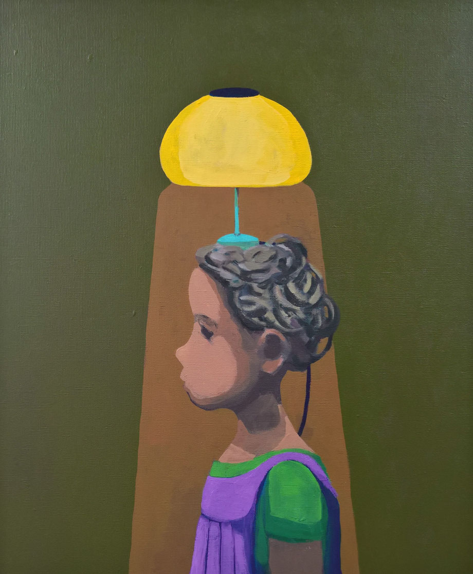 bedside lamp - Acryl auf Leinwand, 60x50cm, 2016 | verkauft