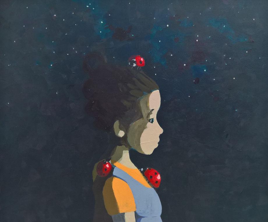 night of the ladybirds - Acryl auf Leinwand, 50x60cm, 2018   verkauft