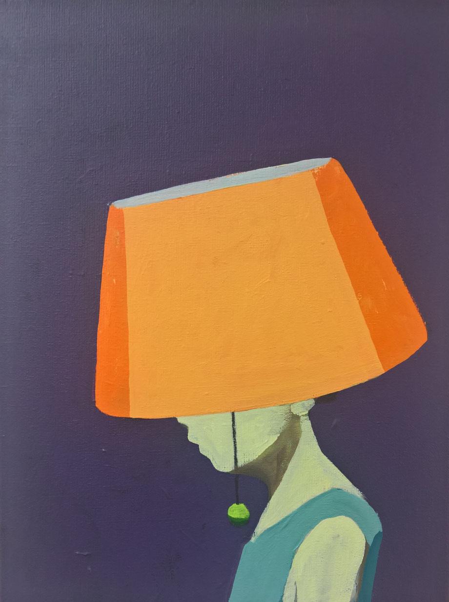 another lamp shade - Acryl auf Leinwand, 40x30cm, 2016 | verkauft