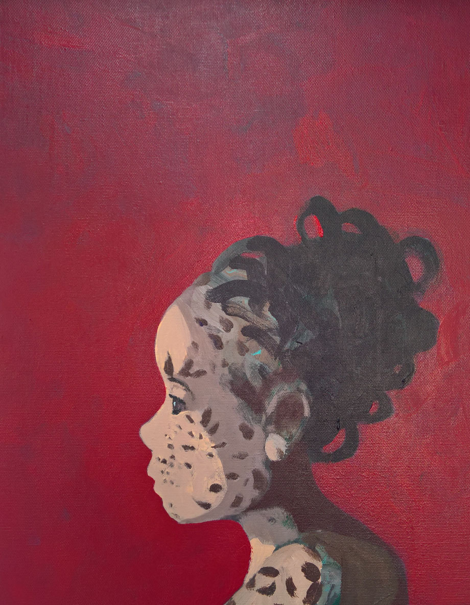 leopard skin - Acryl auf Leinwand, 50x40cm, 2017