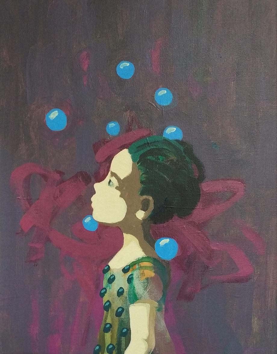 blaues glück - Acryl auf Leinwand, 50x40cm, 2018