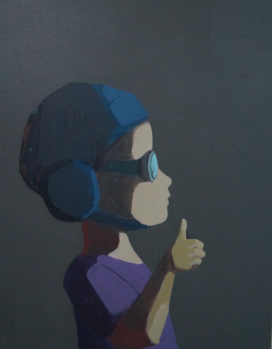 like it - Acryl auf Leinwand, 50x40cm, 2014 | verkauft