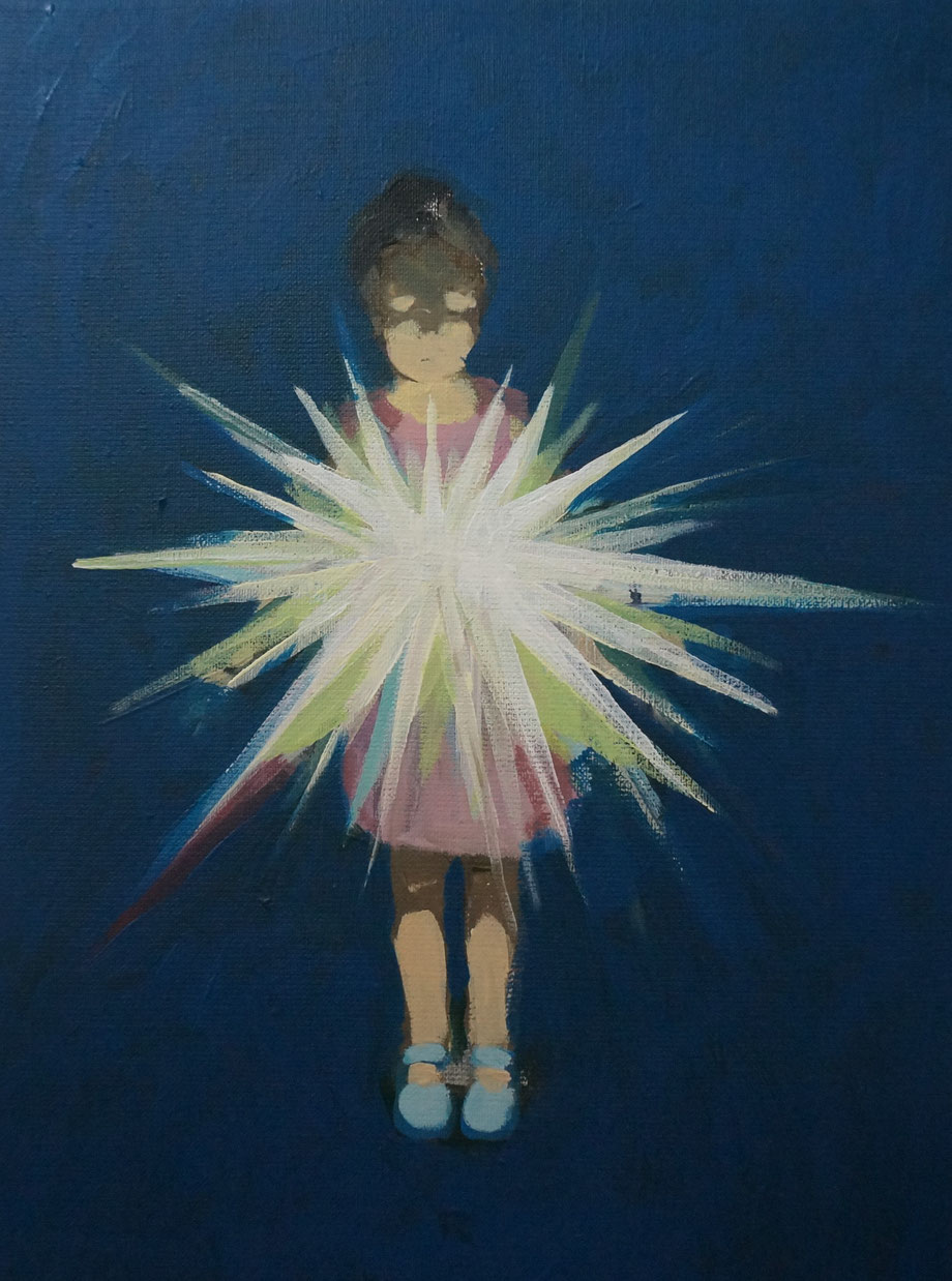 fallen star - Acryl auf Leinwand, 40x30cm, 2016 | verkauft