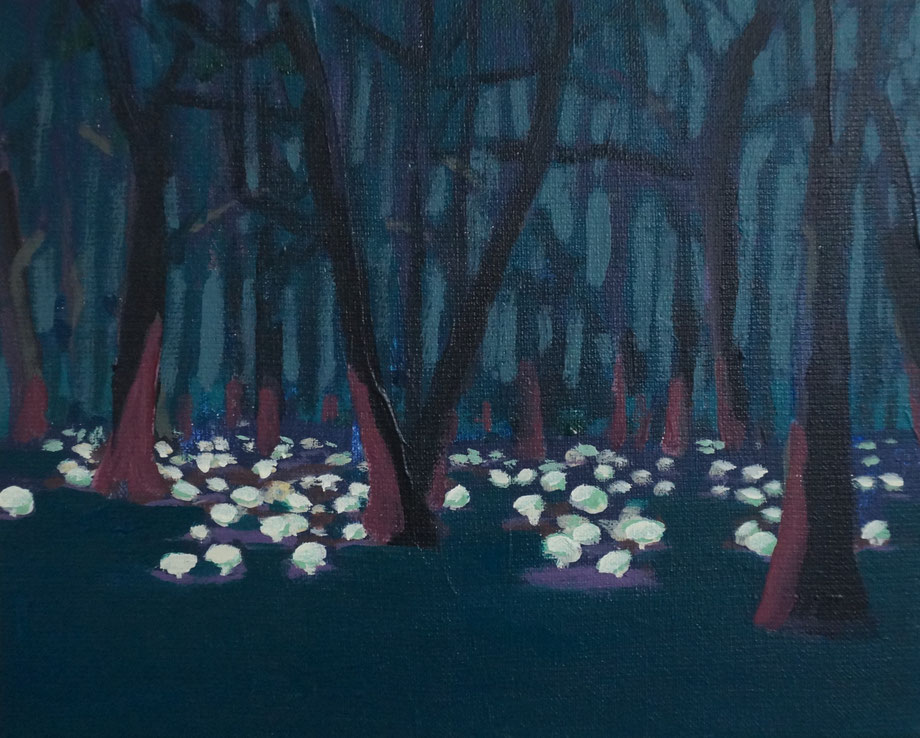 the forest - Acryl auf Leinwand, 24x30cm, 2016