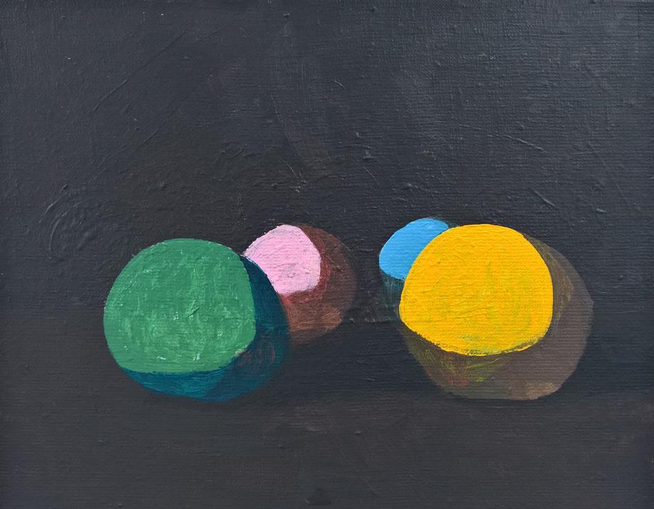 four - Acryl auf Leinwand, 24x30cm, 2017