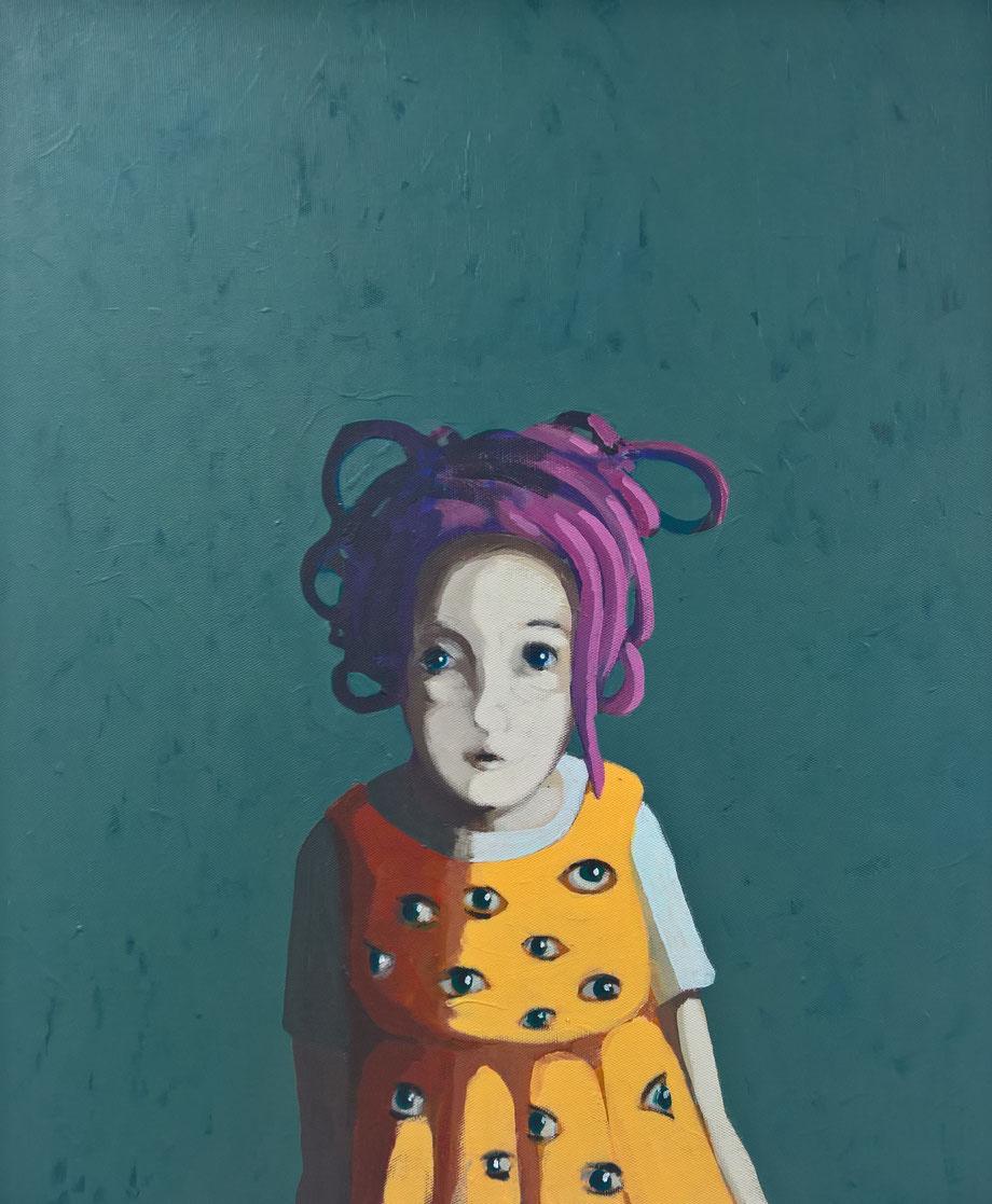 argos' daughter - Acryl auf Leinwand, 60x50cm, 2018  | verkauft