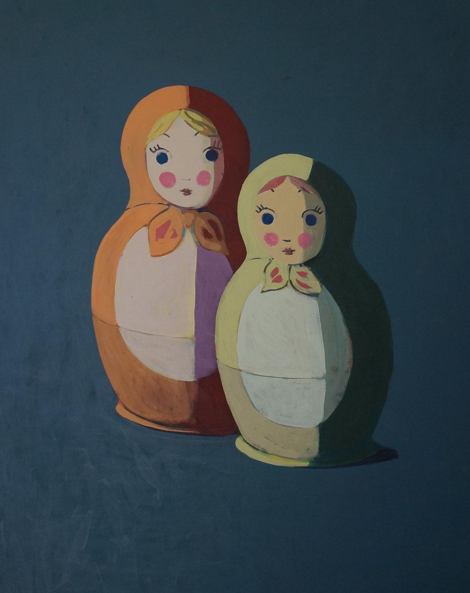matryoshka dolls - Acryl auf Leinwand, 110x90cm, 2015 | verkauft