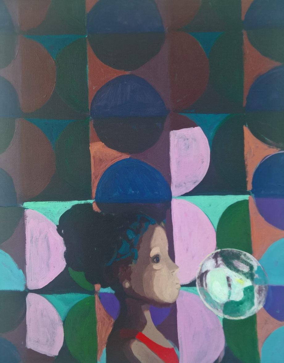 sphere of light - Acryl auf Leinwand, 50x40cm, 2017