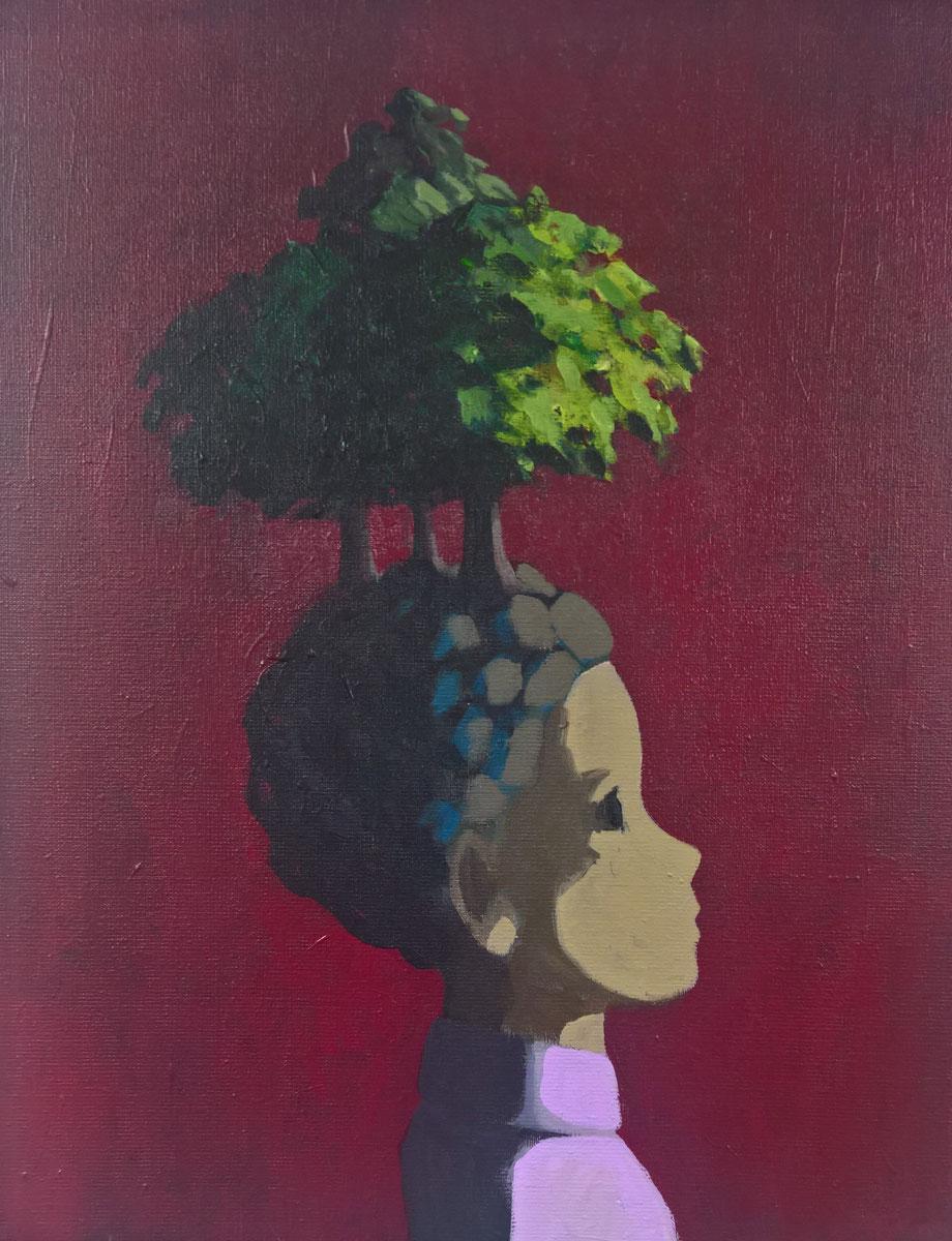 she's got trees - Acryl auf Leinwand, 50x40cm, 2016