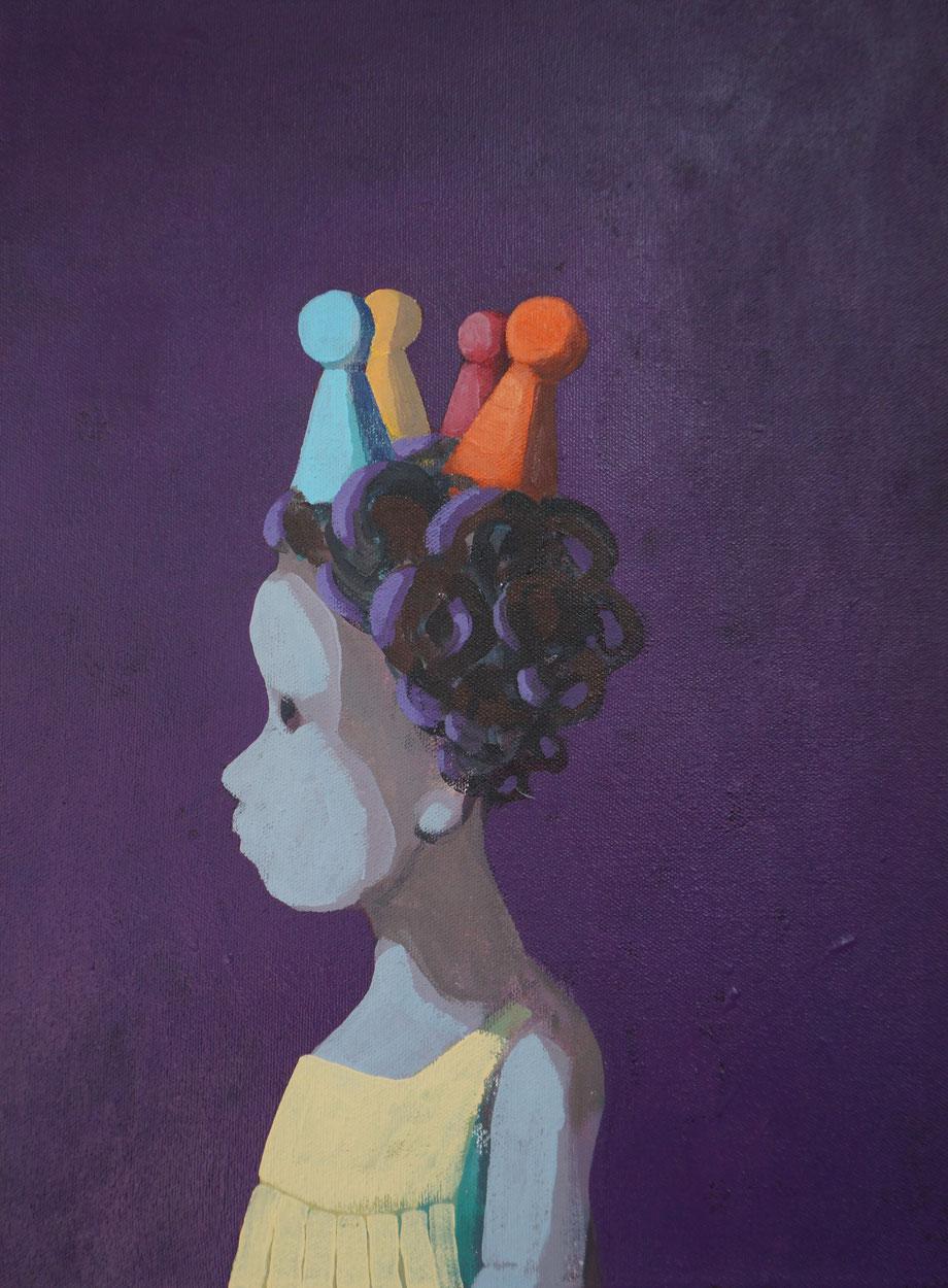 four pieces - Acryl auf Leinwand, 40x30cm, 2015 | verkauft