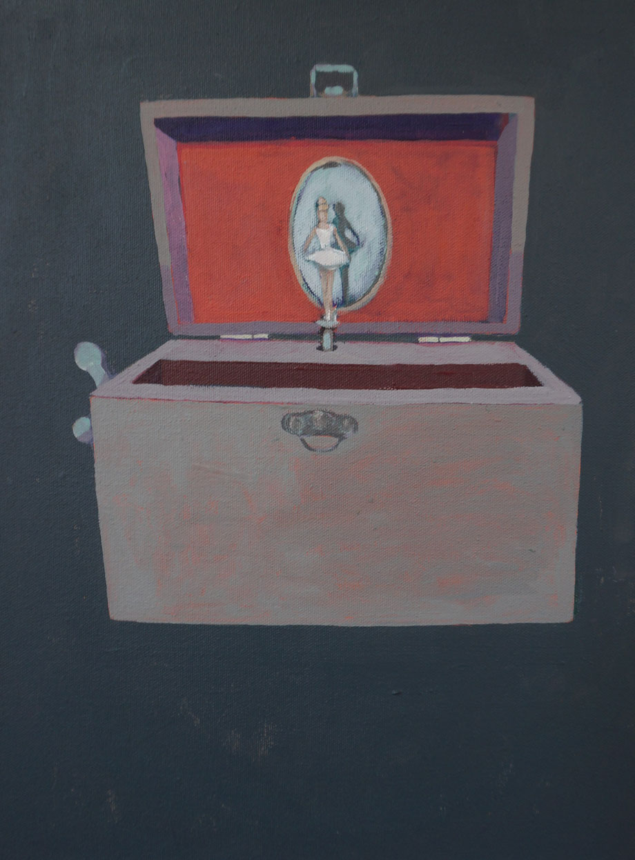 the musical box - Acryl auf Leinwand, 40x30cm, 2015