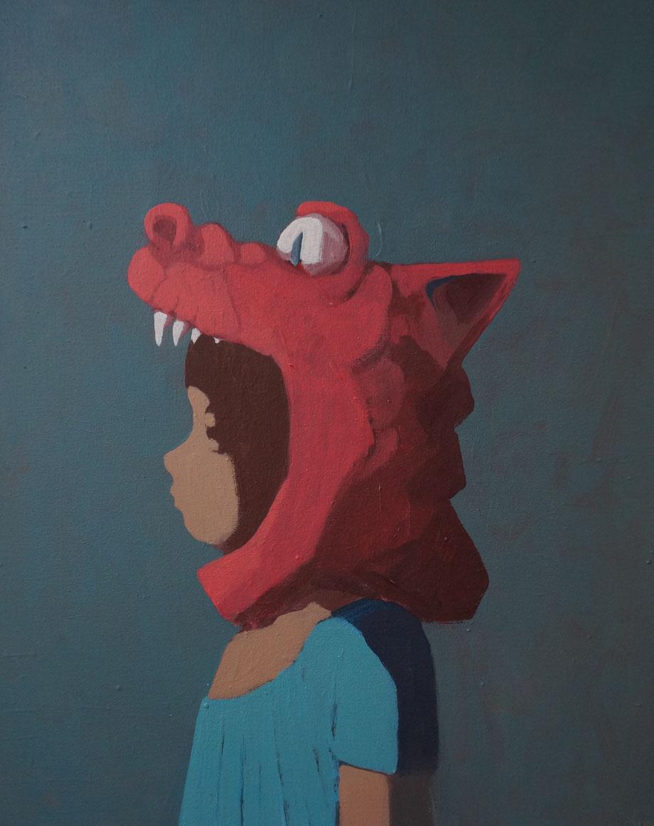 the red dragon - Acryl auf Leinwand, 50x40cm, 2014
