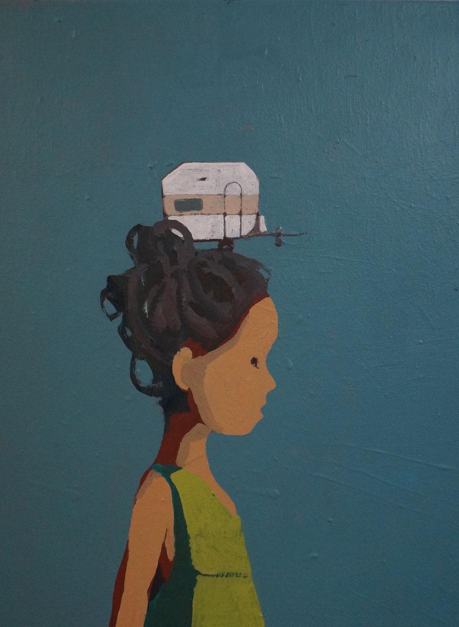 judy's journey - Acryl auf Leinwand, 40x30cm, 2014 | verkauft