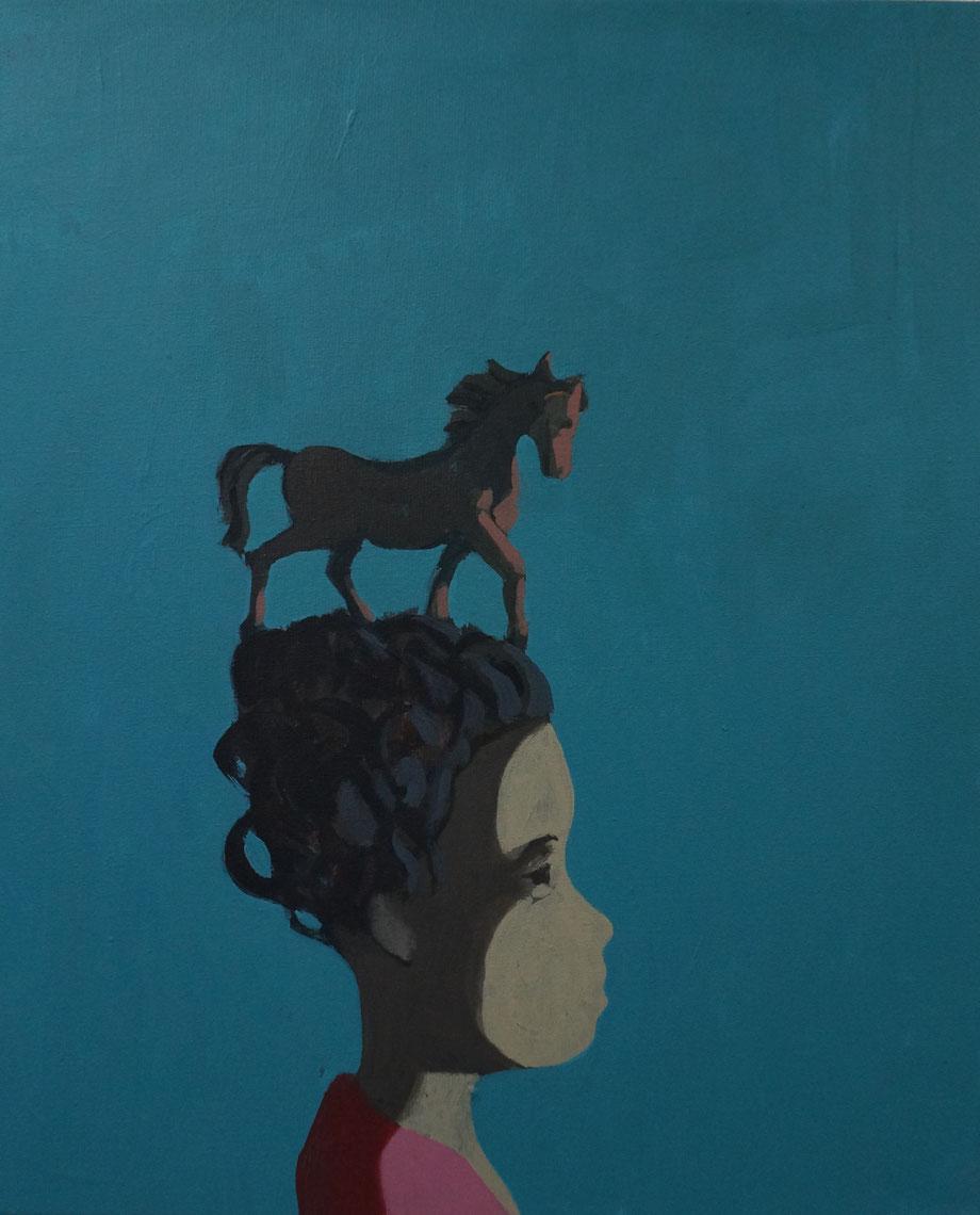 holly's horse - Acryl auf Leinwand, 60x50cm, 2015