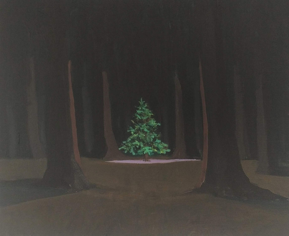 small fir - Acryl auf Leinwand, 50x60cm, 2018