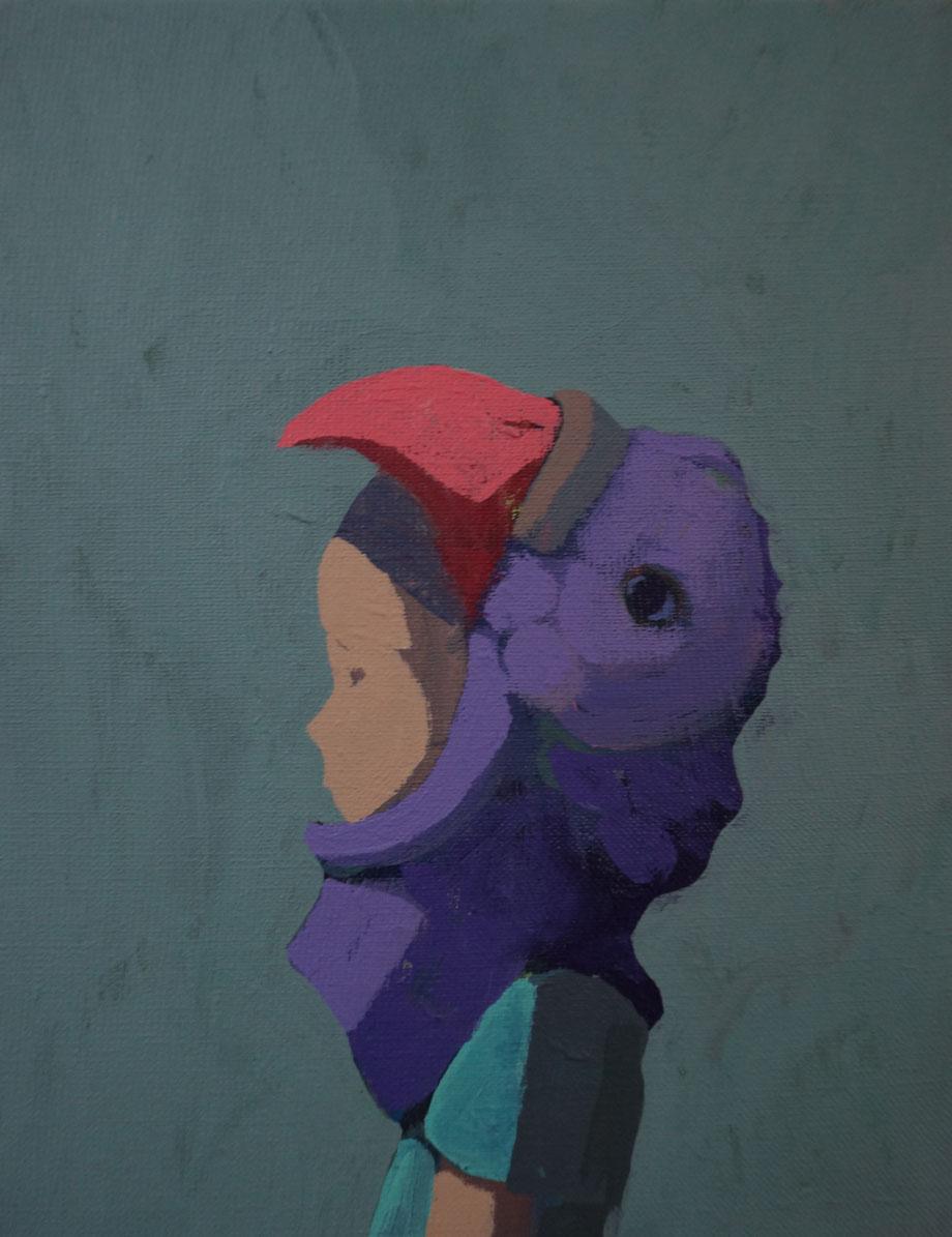 tiny tales - Acryl auf Leinwand, 30x24cm, 2014