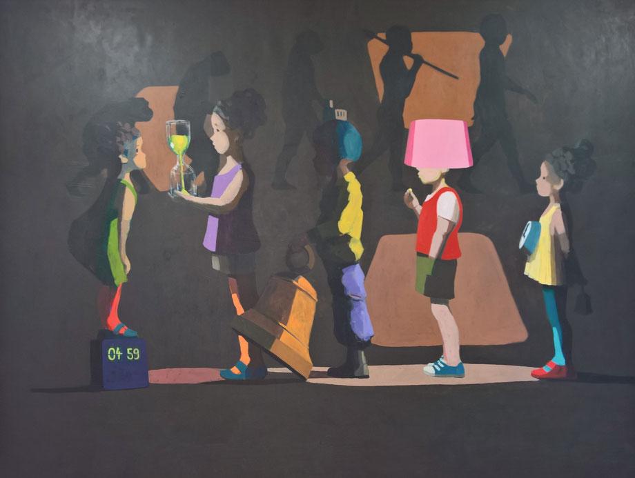 it's about time - Acryl auf Leinwand, 190x250cm, 2016 | verkauft