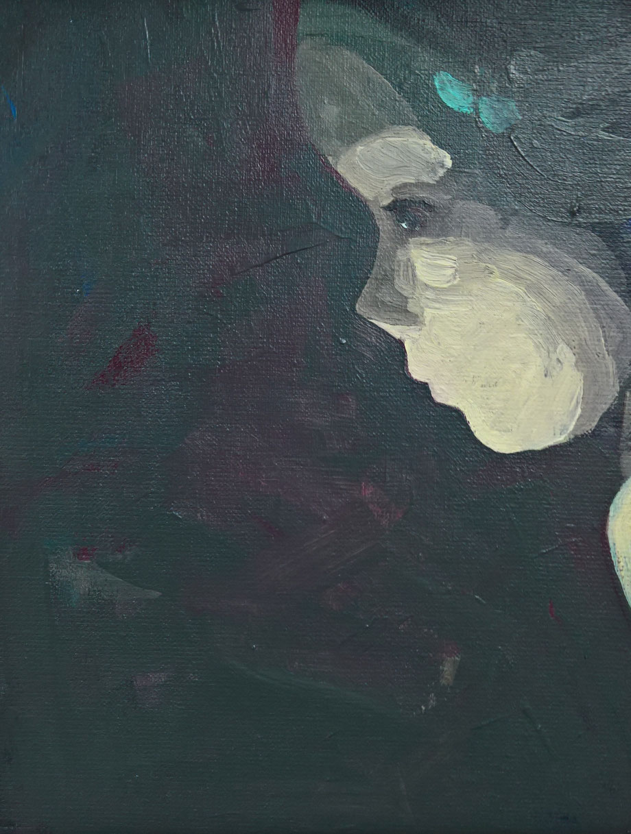night eyes - Acryl auf Leinwand, 30x24cm, 2017 | verkauft
