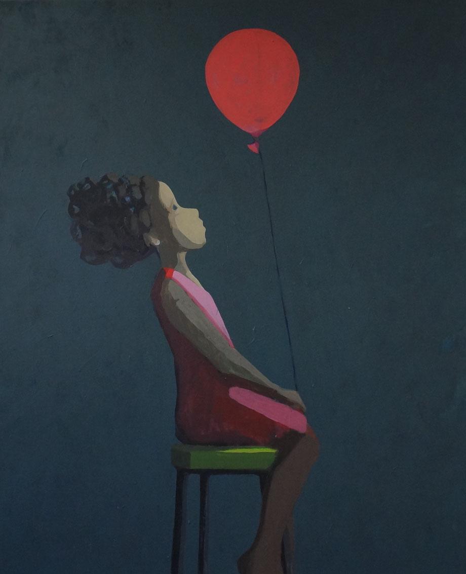 red balloon - Acryl auf Leinwand, 110x90cm, 2015 | verkauft
