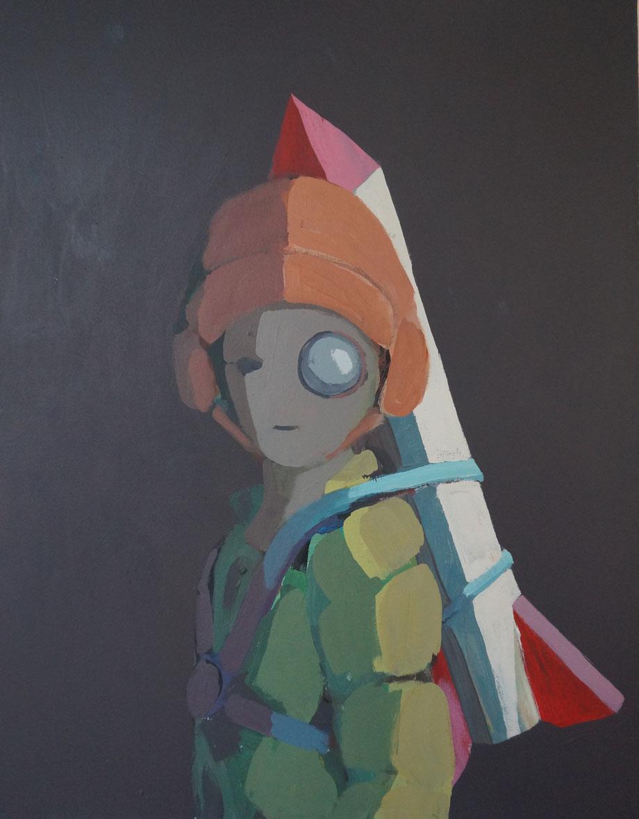 rocket man - Acryl auf Leinwand, 64x50cm, 2014 | verkauft