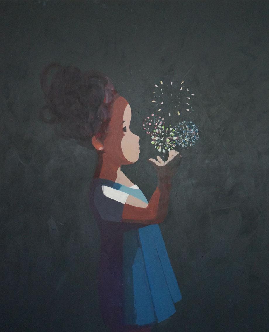 fireworks - Acryl auf Leinwand, 110x90cm, 2015 | verkauft