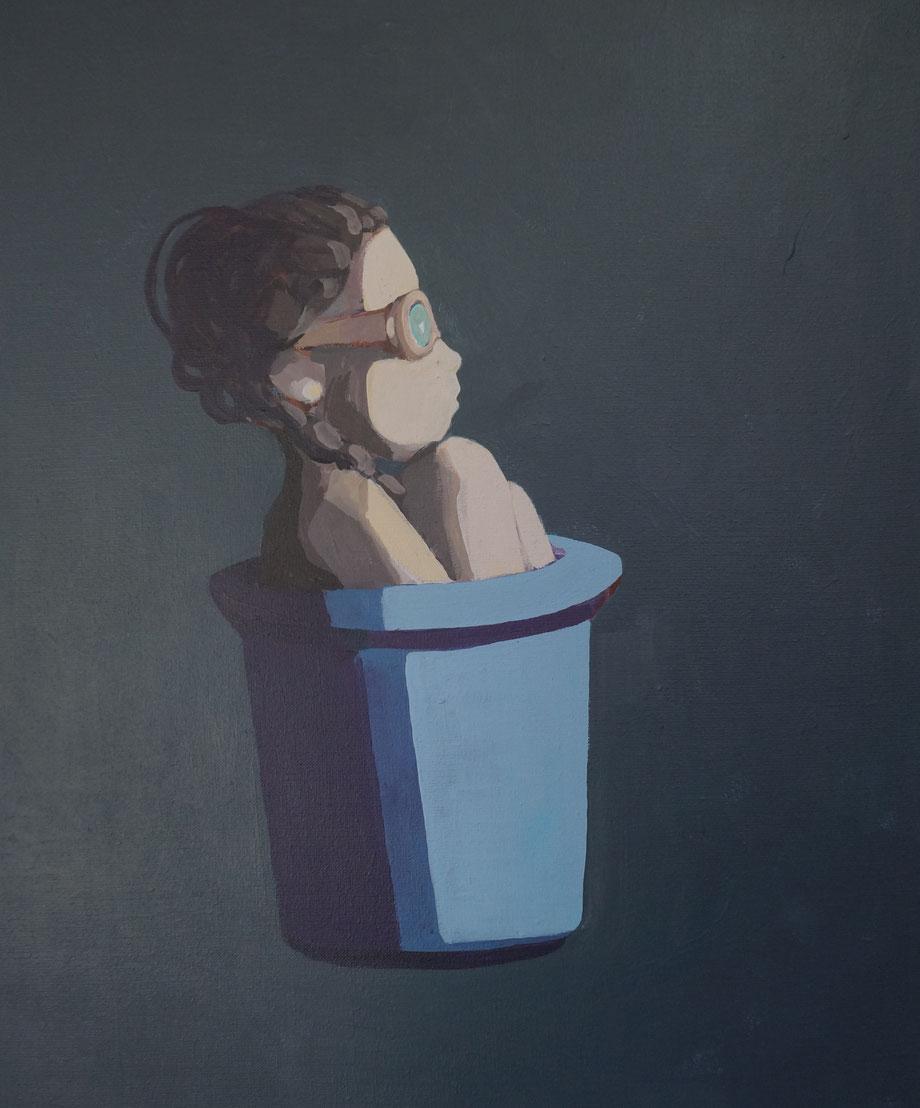 wastebasket - Acryl auf Leinwand, 60x50cm, 2015 | verkauft