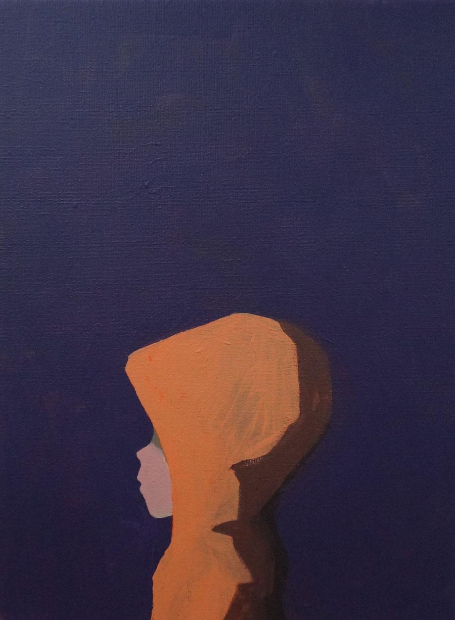 hoodie - Acryl auf Leinwand, 40x30cm, 2015 | verkauft