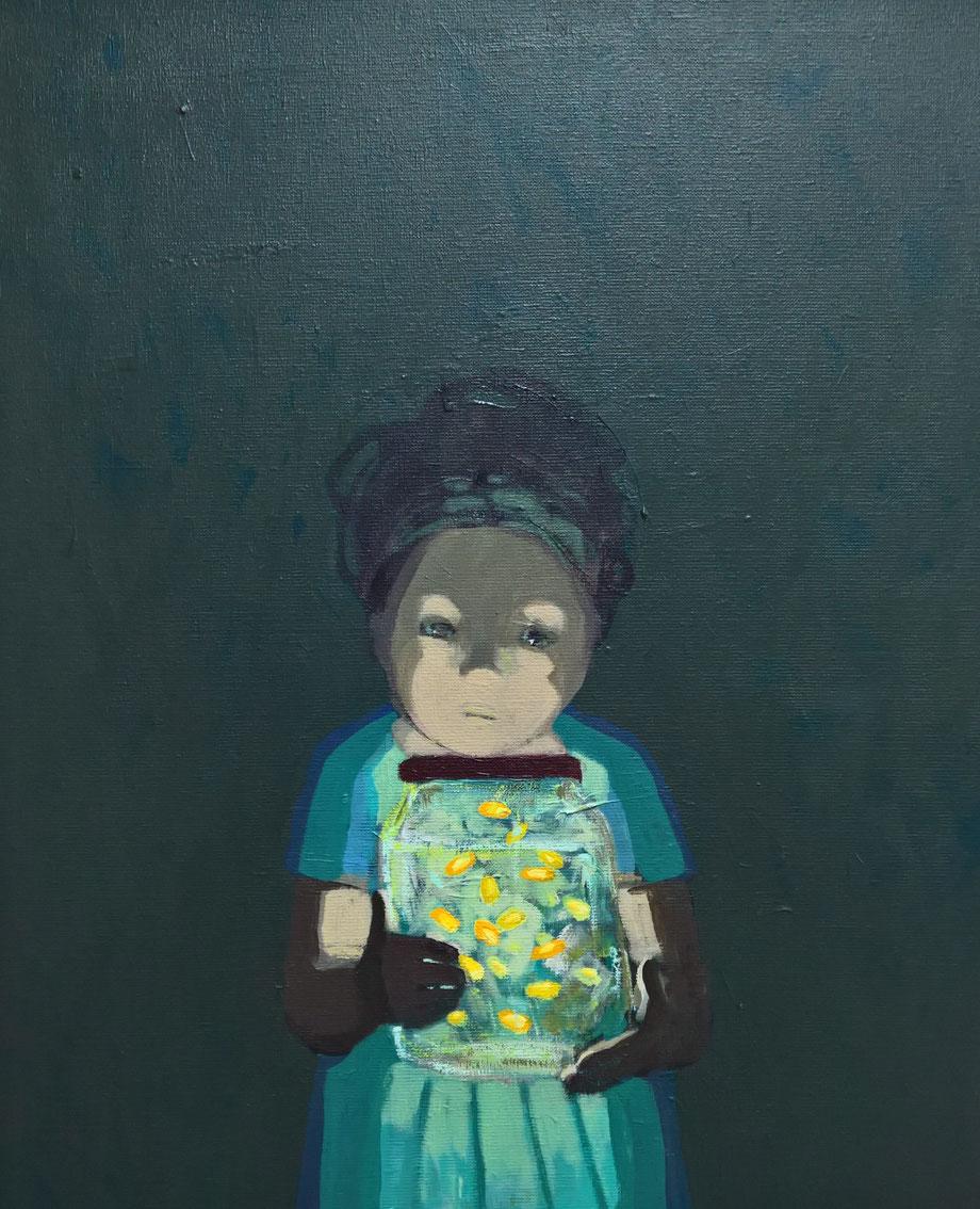 fireflies - Acryl auf Leinwand, 60x50cm, 2017 | verkauft