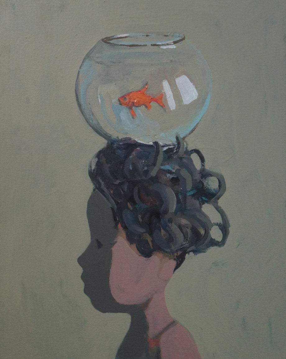 fiona's fish - Acryl auf Leinwand, 50x40cm, 2014 | verkauft