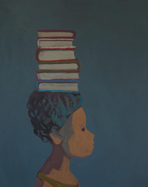 librarian - Acryl auf Leinwand, 50x40cm, 2014