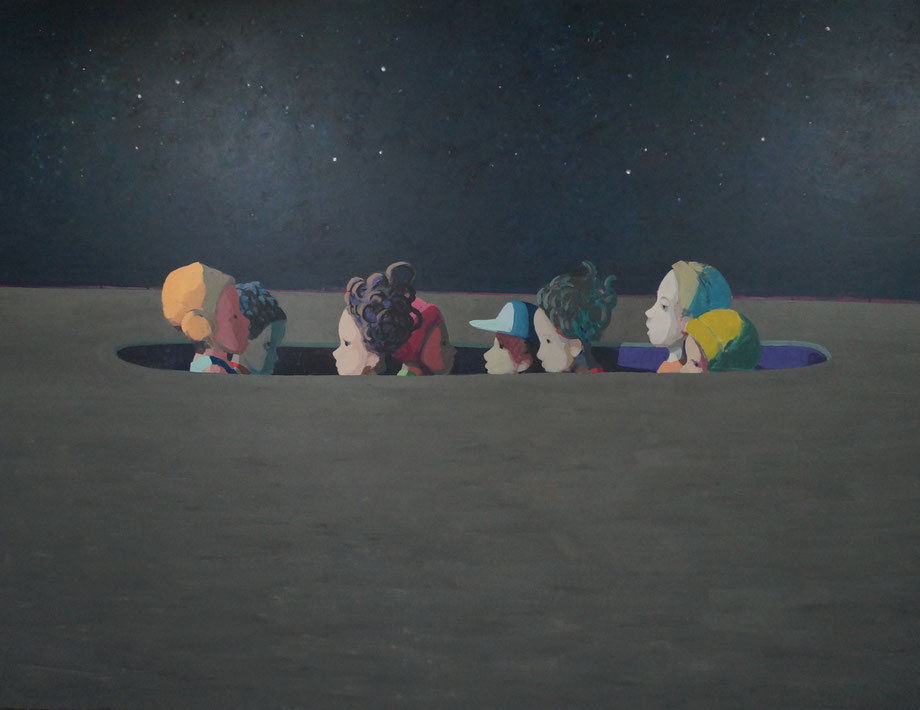 starry night - Acryl auf Leinwand, 190x250cm, 2015 | verkauft