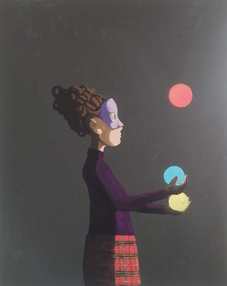 juggler - Acryl auf Leinwand, 100x80cm, 2019