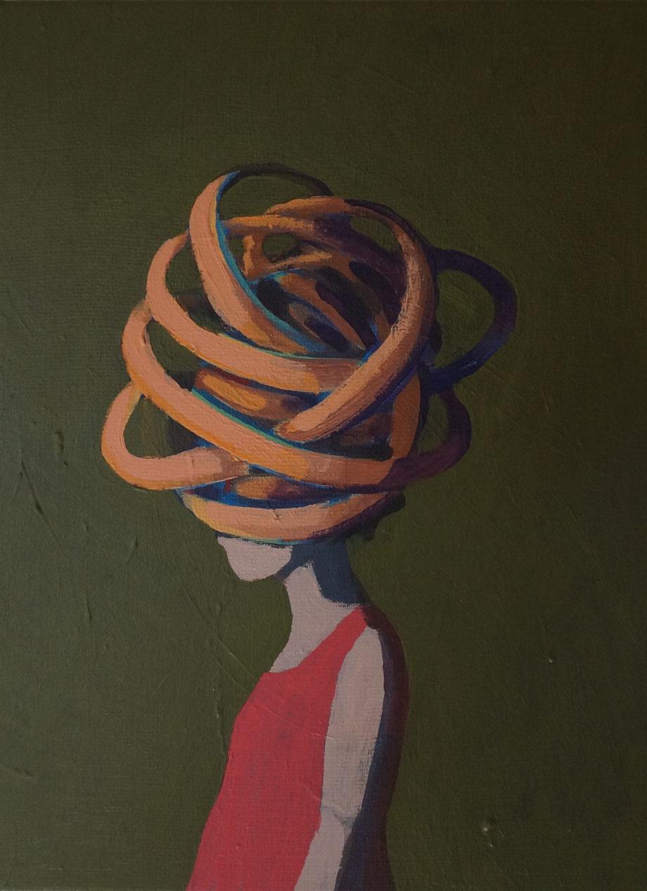 try and error - Acryl auf Leinwand, 40x30cm, 2015 | verkauft