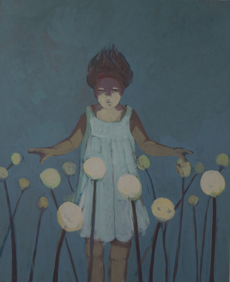 lucy's meadow - Acryl auf Leinwand, 100x80cm, 2014 | verkauft