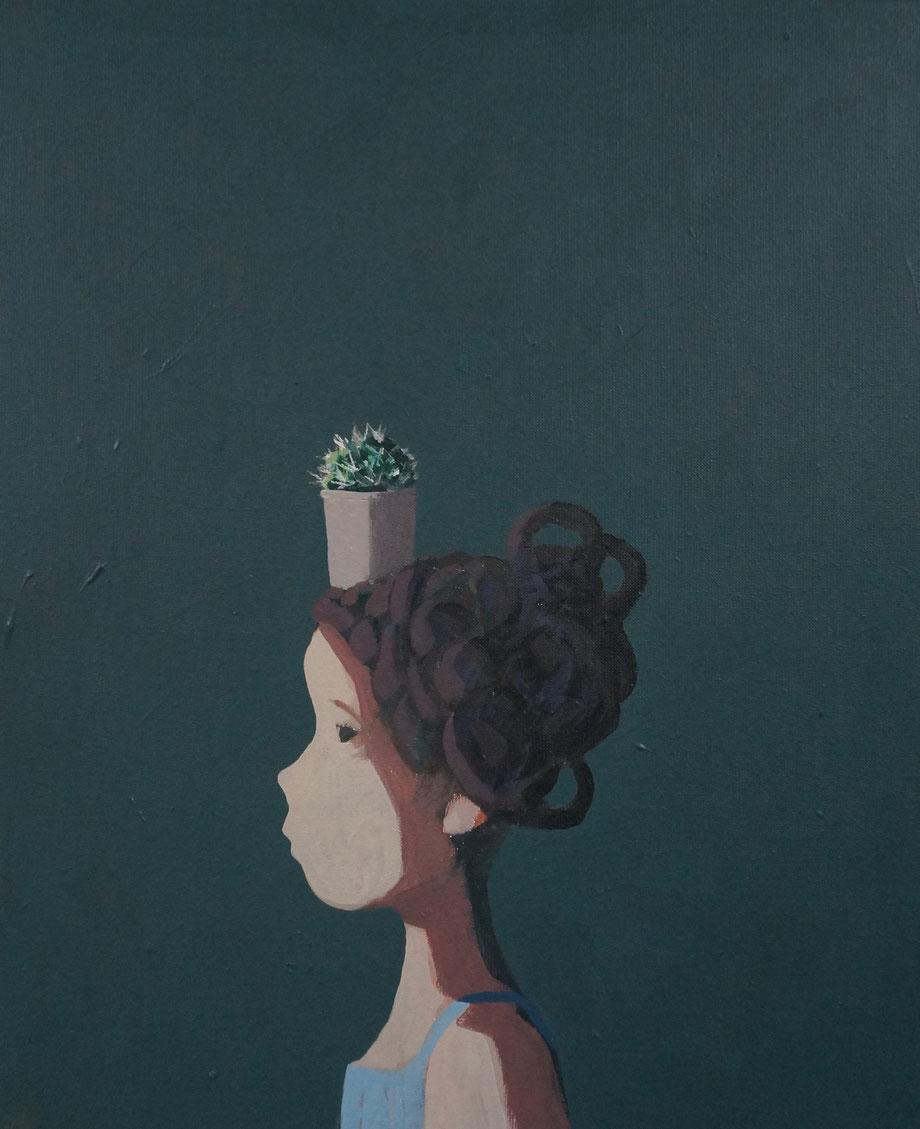 the cactus - Acryl auf Leinwand, 60x50cm, 2015 | verkauft