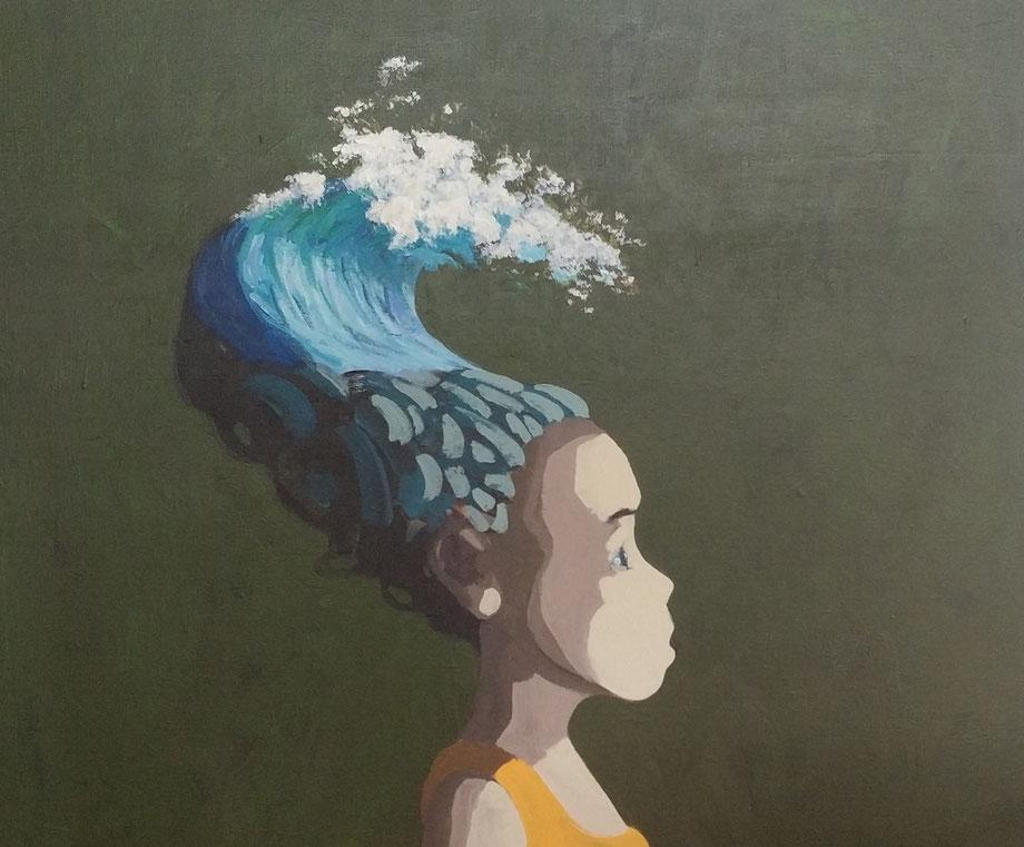 wave - Acryl auf Leinwand, 50x60cm, 2018