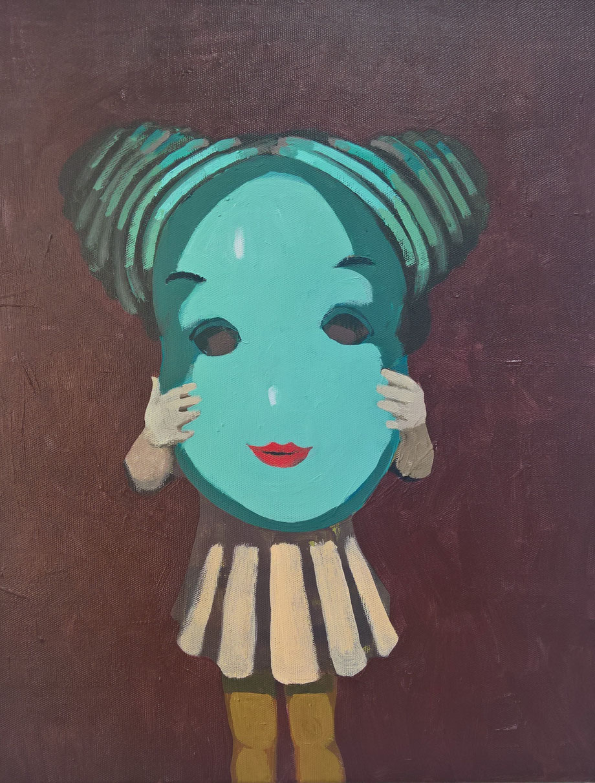 the mask - Acryl auf Leinwand, 50x40cm, 2017