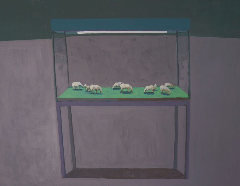 the large enclosure - Acryl auf Leinwand, 90x115cm, 2014