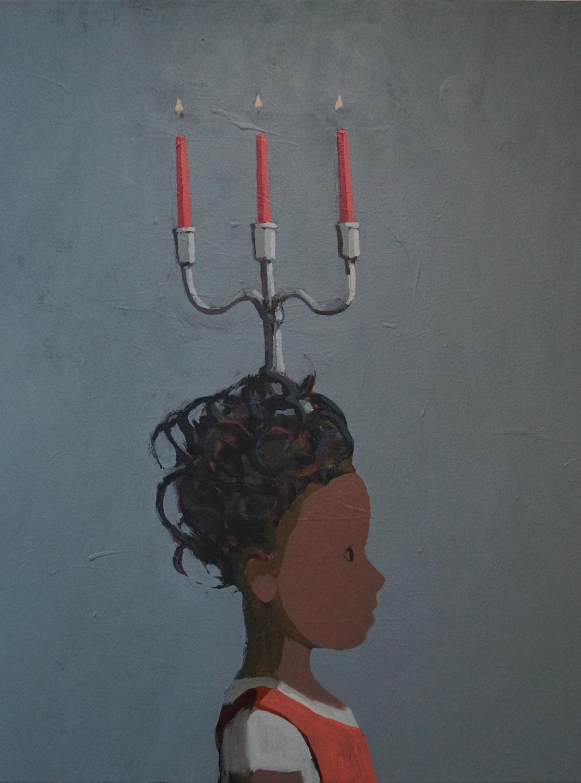 ruby's candlestick - Acryl auf Leinwand, 64x50cm, 2014 | verkauft