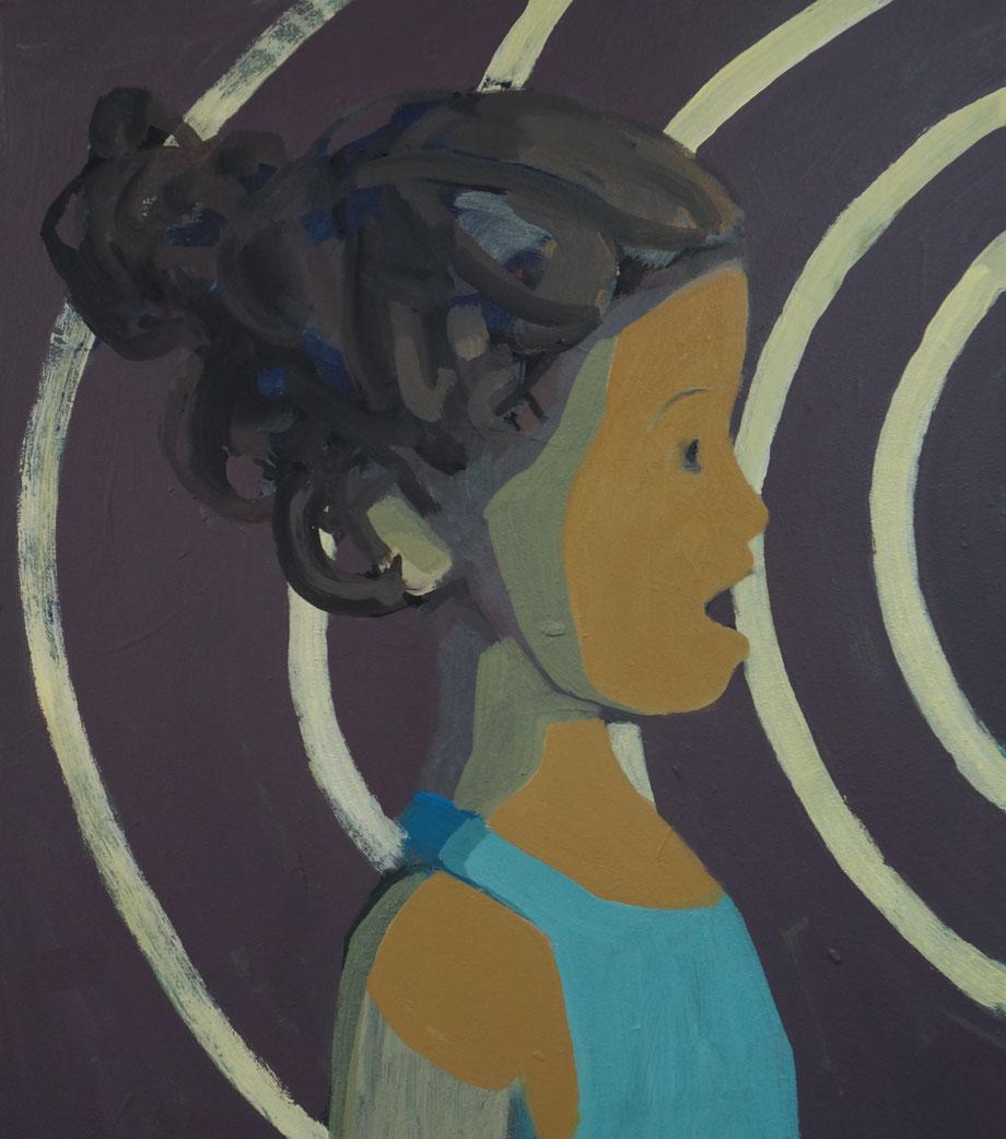 isabella's encounter - Acryl auf Leinwand, 50x40cm, 2014 | verkauft