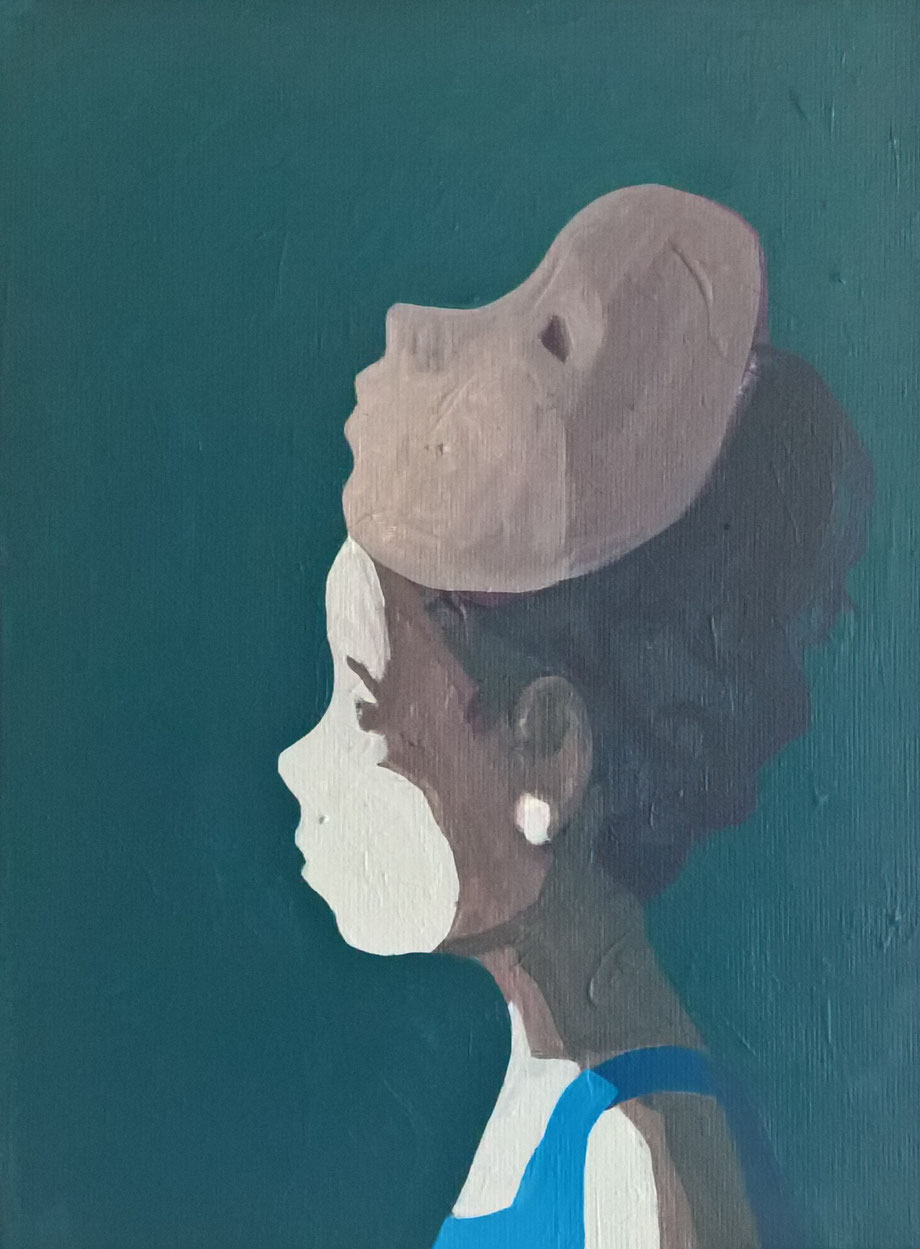 two faces - Acryl auf Leinwand, 40x30cm, 2016