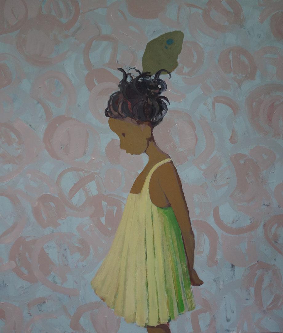 matilda's butterfly - Acryl auf Leinwand, 110x95cm, 2014 | verkauft